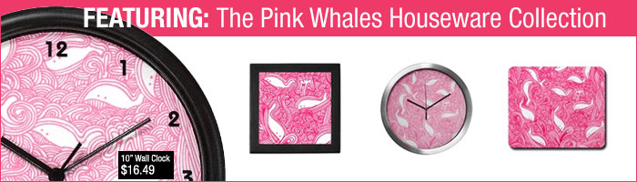 The Pink Whales Houseware Collection