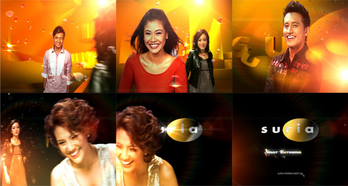 Mediacorp TV Suria Channel Re-brand feat. Ident Artistes