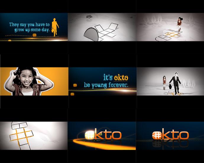 Mediacorp TV okto Channel Branding feat. Ident Hopscotch